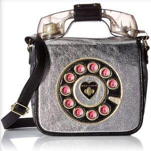 Betsey Johnson Kitsch Off The Hook Phone Crossbody